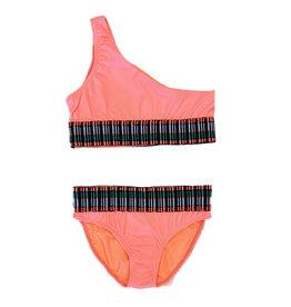 Peixoto Neon Coral Zoni Swimsuit