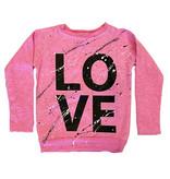 Firehouse Pink Love Splatter Sweatshirt