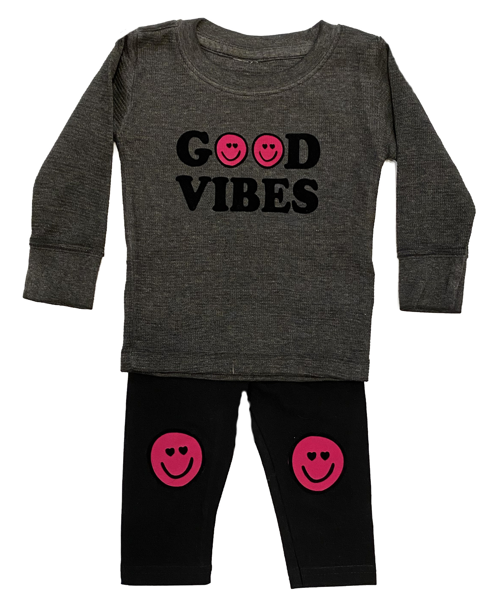 Small Change Grey/Pink Good Vibes Set
