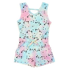 T2Love Aqua/Pink TD Mini Stars Romper