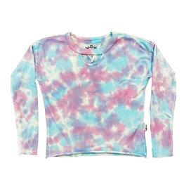 T2Love Aqua/Pink TD Keyhole Sweatshirt