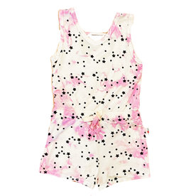 T2Love Pink TD Mini Stars Romper