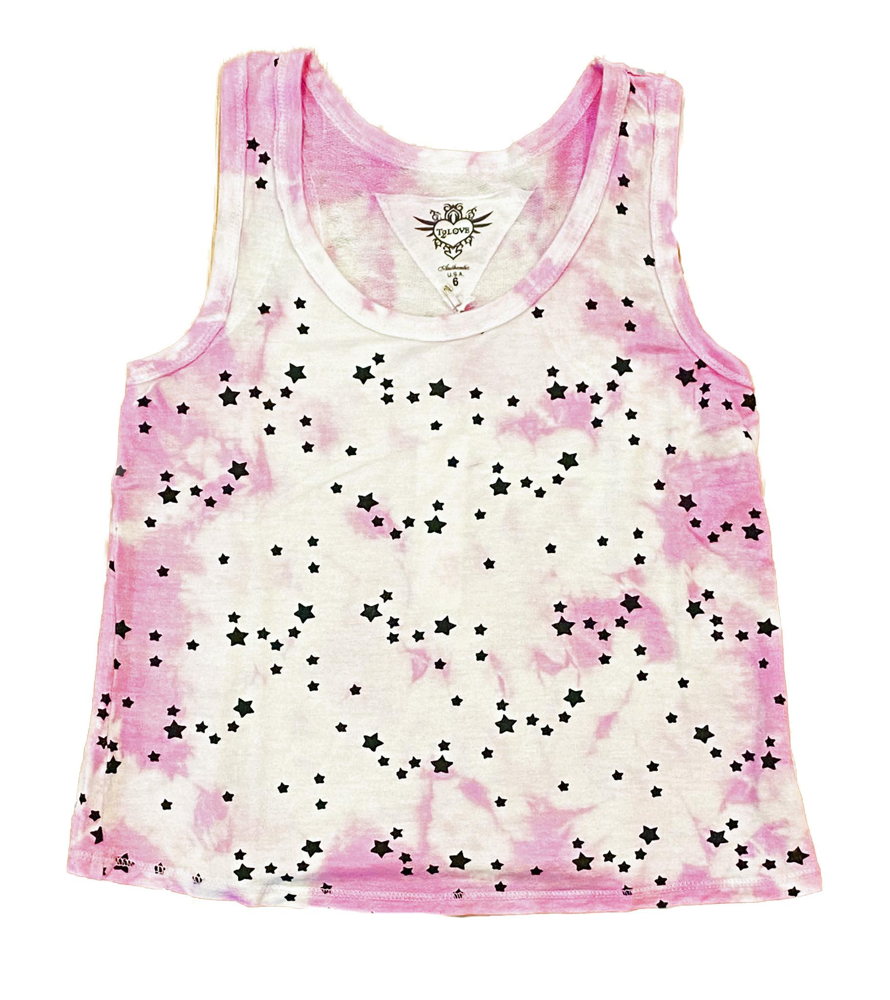 T2Love Pink TD Mini Stars Tank Top