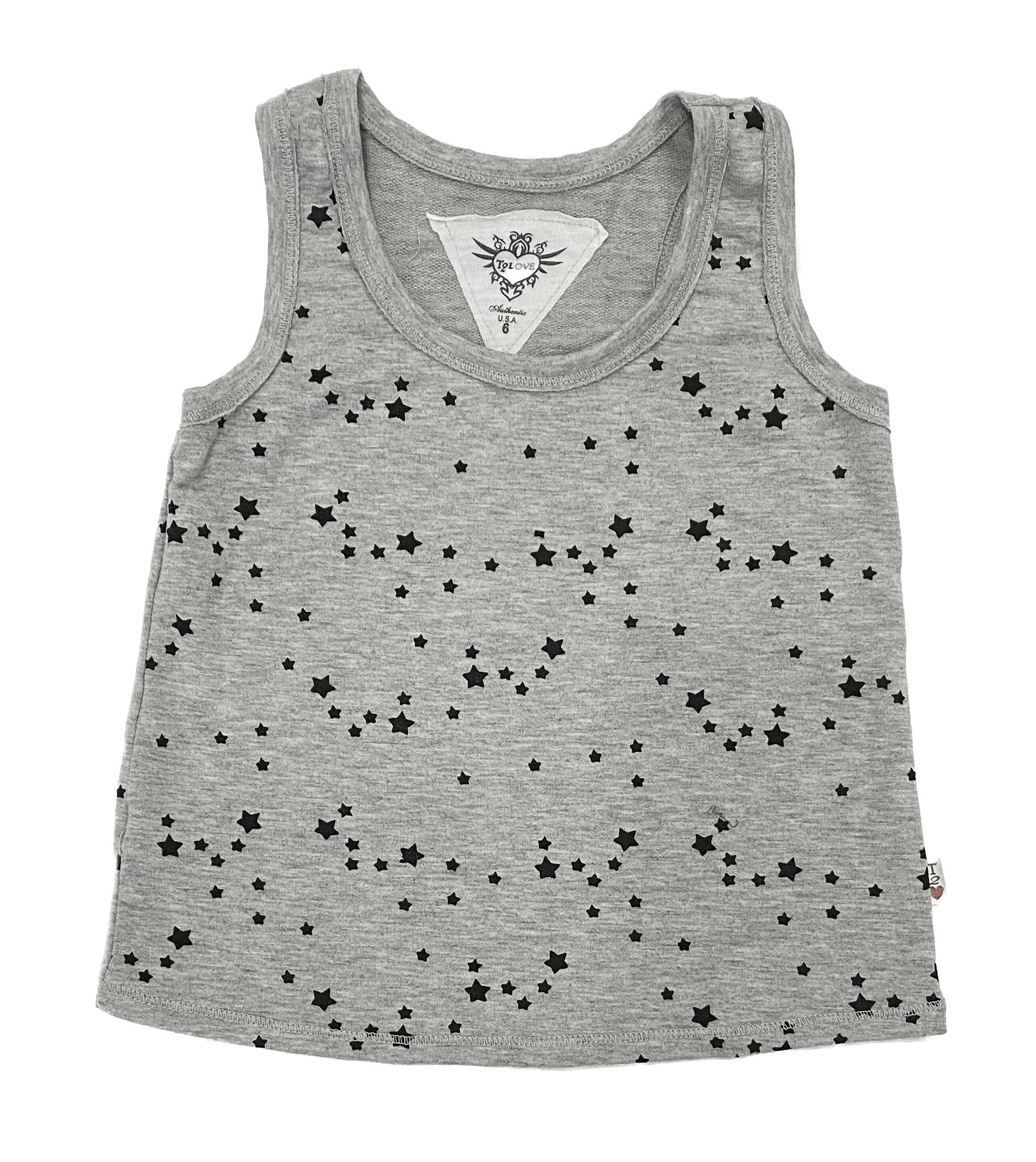 T2Love Heather Grey Mini Stars Tank Top