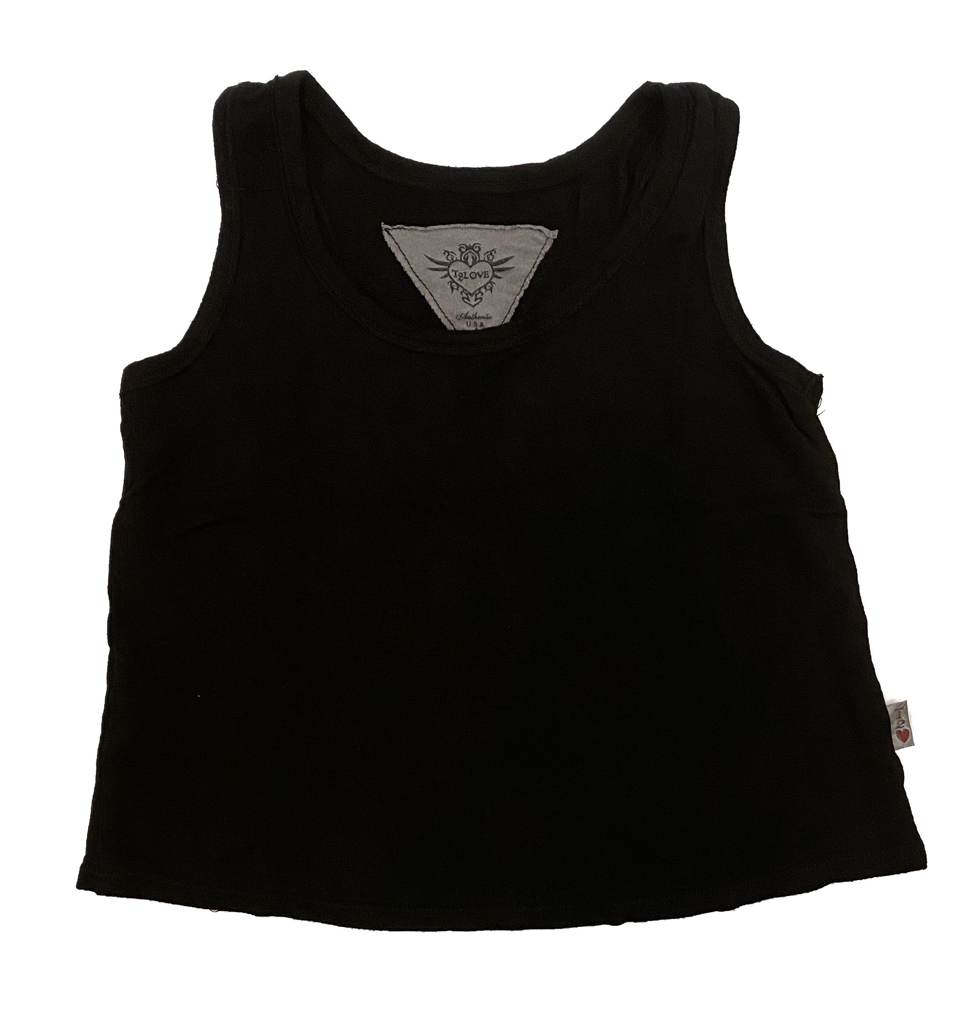 T2Love Black Crop Tank Top