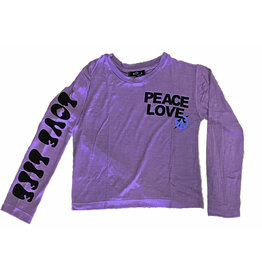 Flowers by Zoe Lavender Peace/Love LS Tee