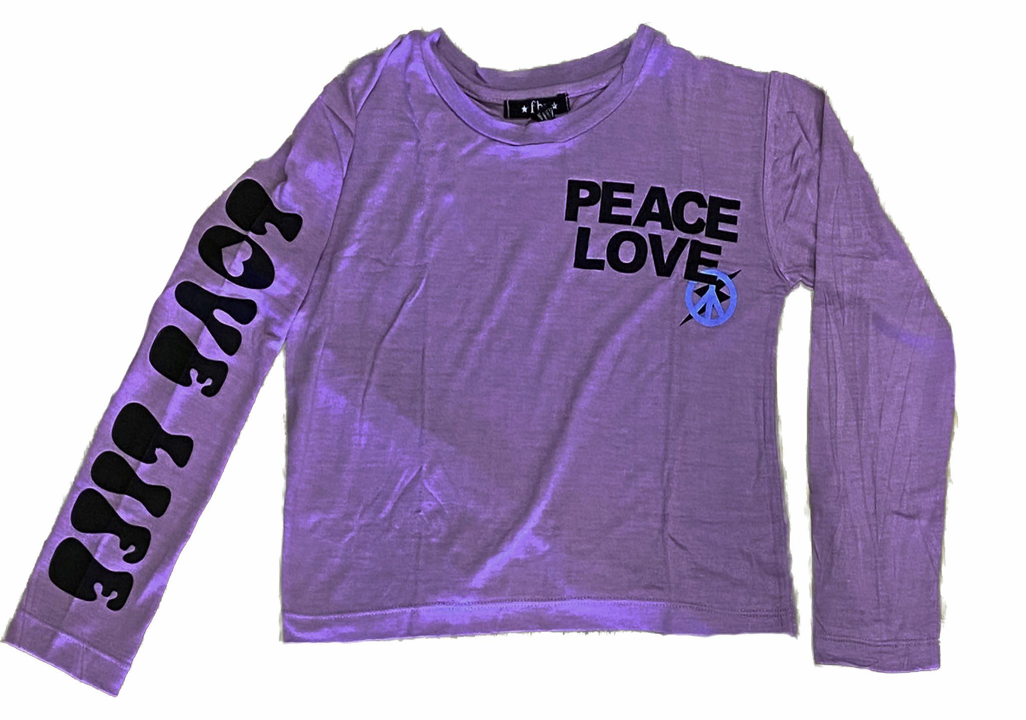 Flowers by Zoe Lavender Peace/Love LS Tee