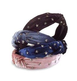 Velvet Star Studded Headbands - 4 colors