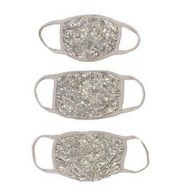 Soft Silver Sequin Mask- Kids, Tween, Adult