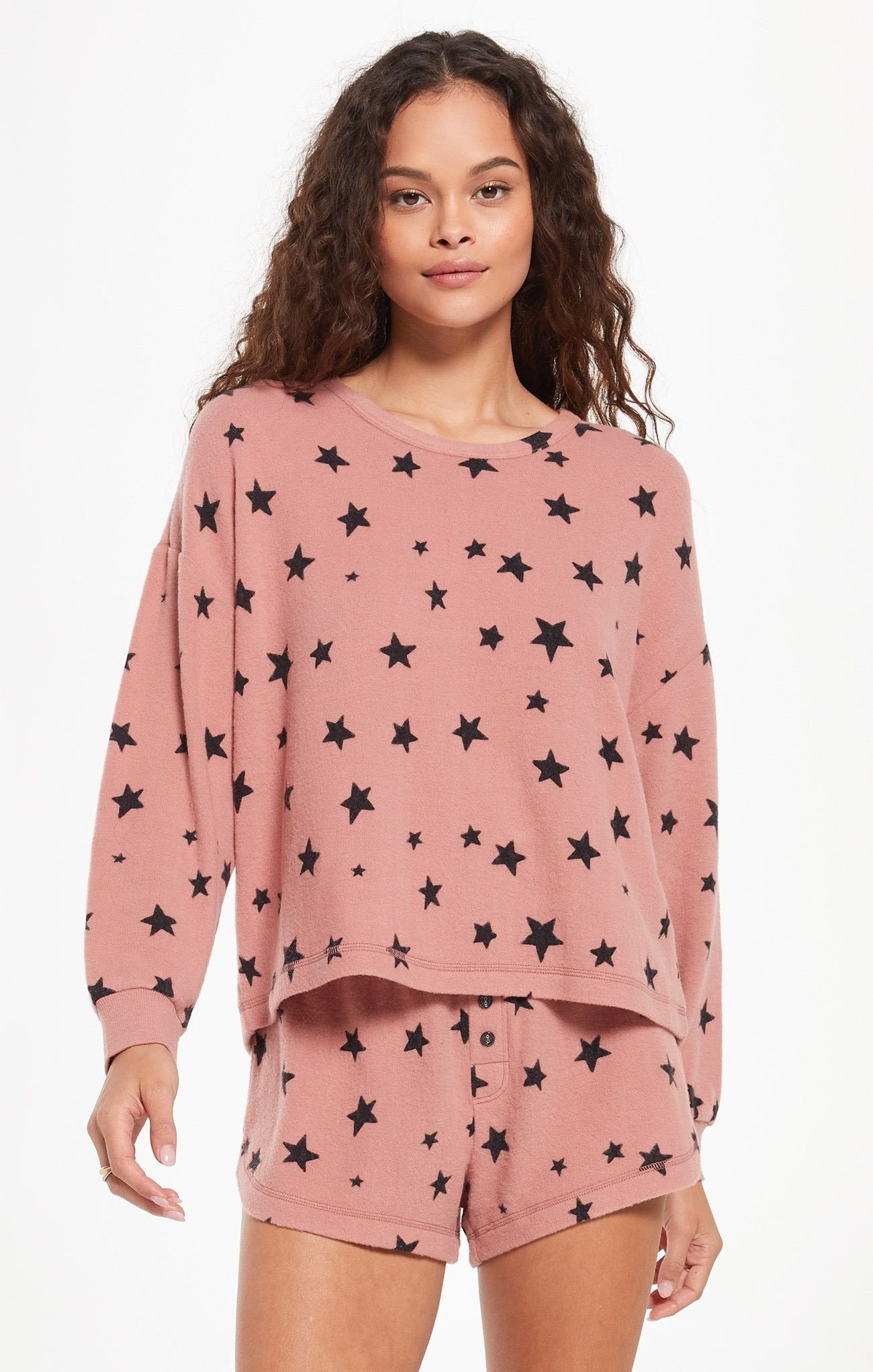 Z Supply Rose Star Top