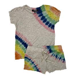 Flowers By Zoe Grey Diagonal Dye Shorts Set Toddler