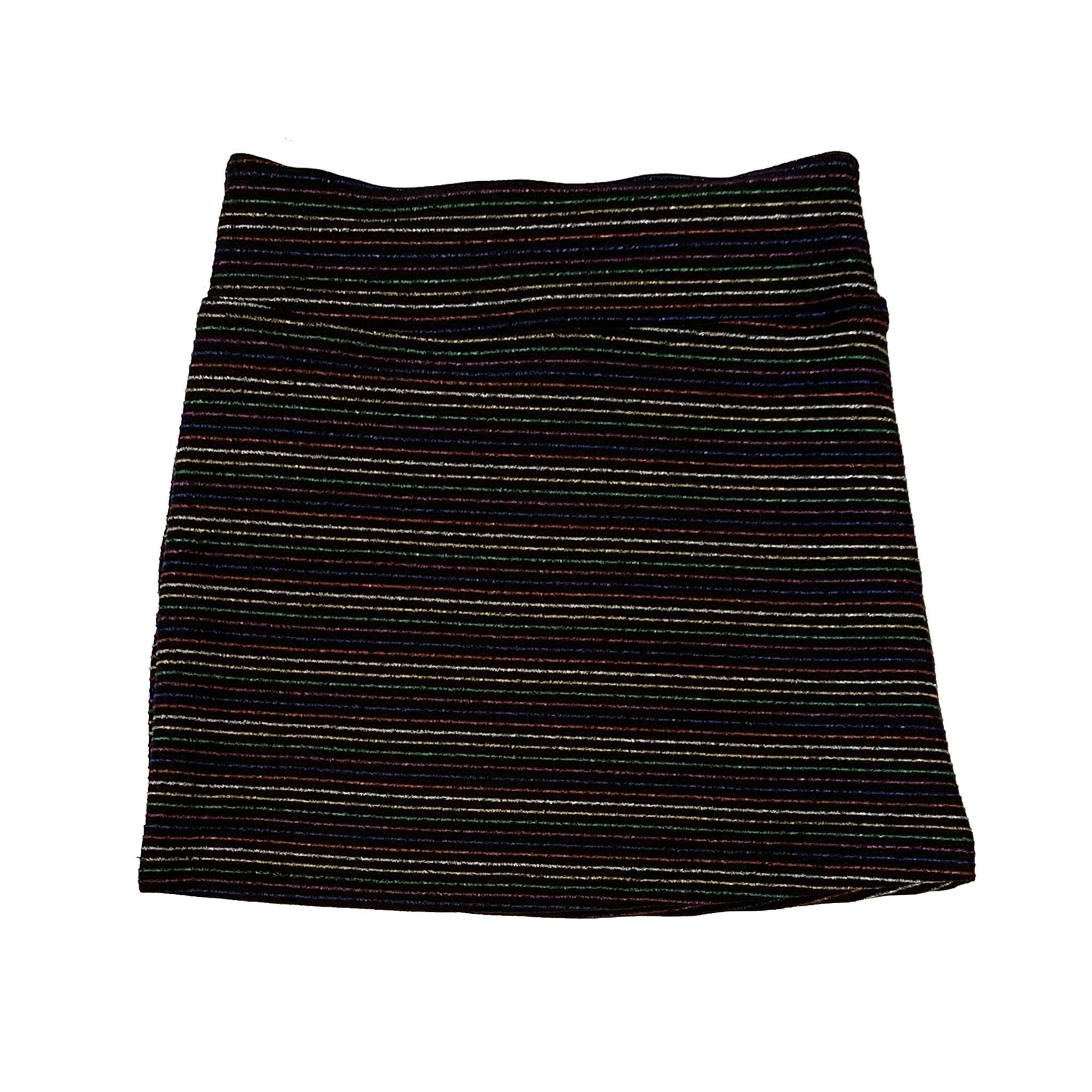 Les Tout Petits Metallic Stripe Skirt