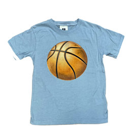 Wes & Willy Lt Blue Basketball Tee