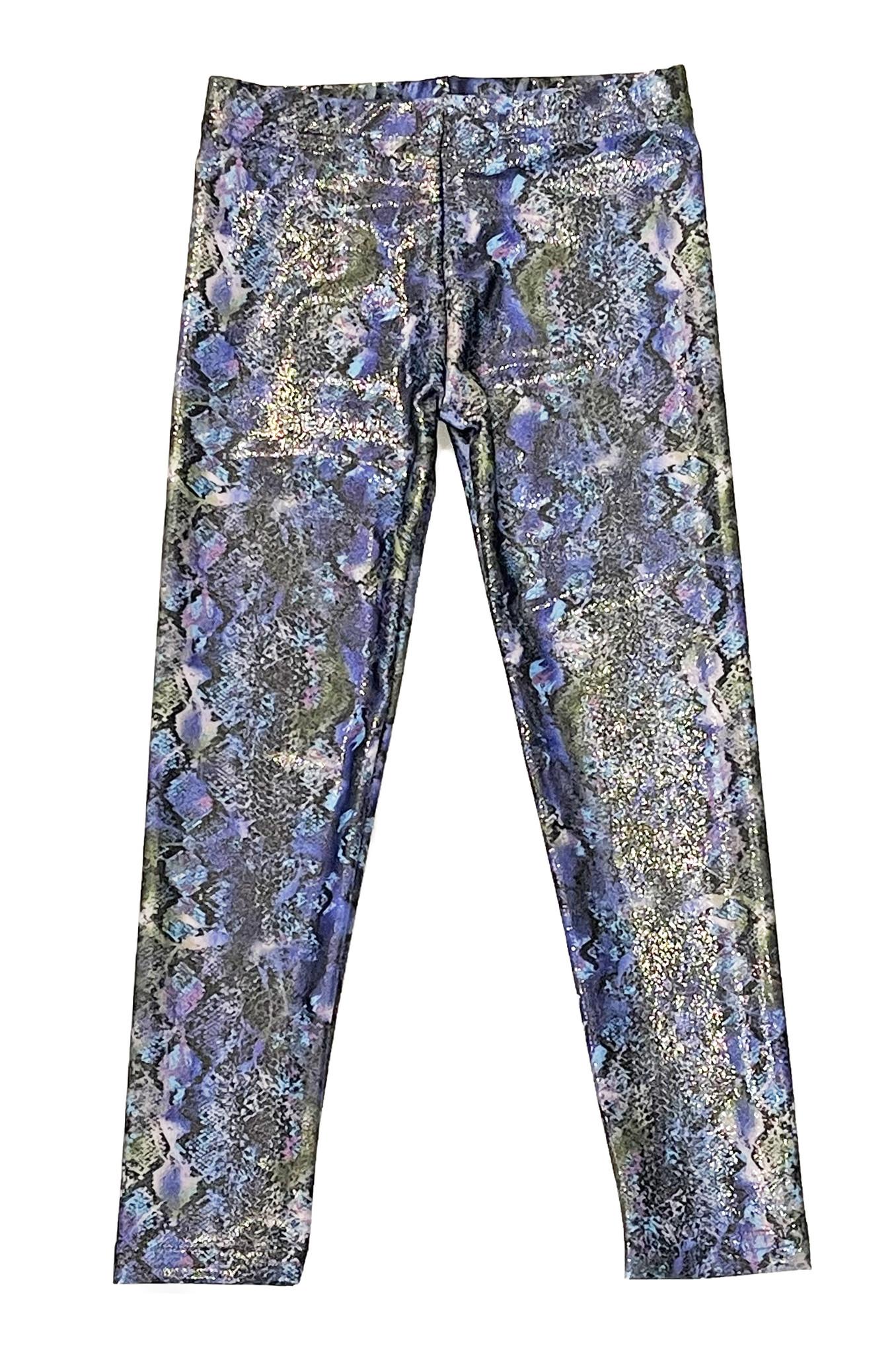 Dori Purple Glitter Snake Leggings