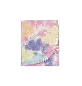 Baby Steps Colorful Rainbow Tie Dye Blanket