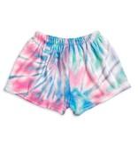 Top Trenz Cotton Candy Tie Dye Plush Lounge Shorts