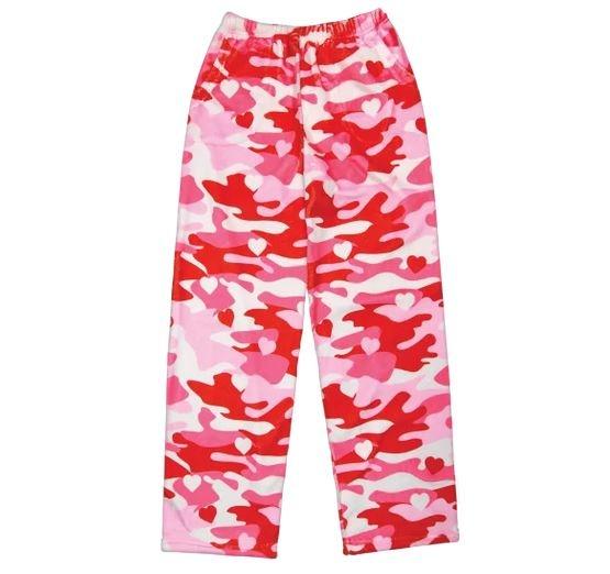 IScream Camo Heart Plush Pants