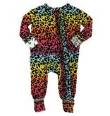 Gigi & Max Rainbow Leopard Ruffle Romper