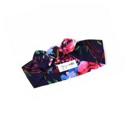 Gigi & Max Navy Gabriella Floral Headband