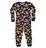 Baby Steps Navy Pizza PJ Set