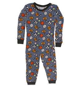 Baby Steps Denim Sports Infant PJ Set