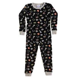 Baby Steps Black Rock n Roll Infant PJ Set