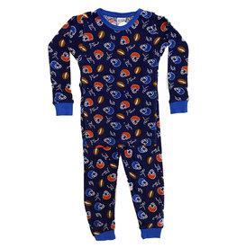Baby Steps Navy Football Infant PJ Set