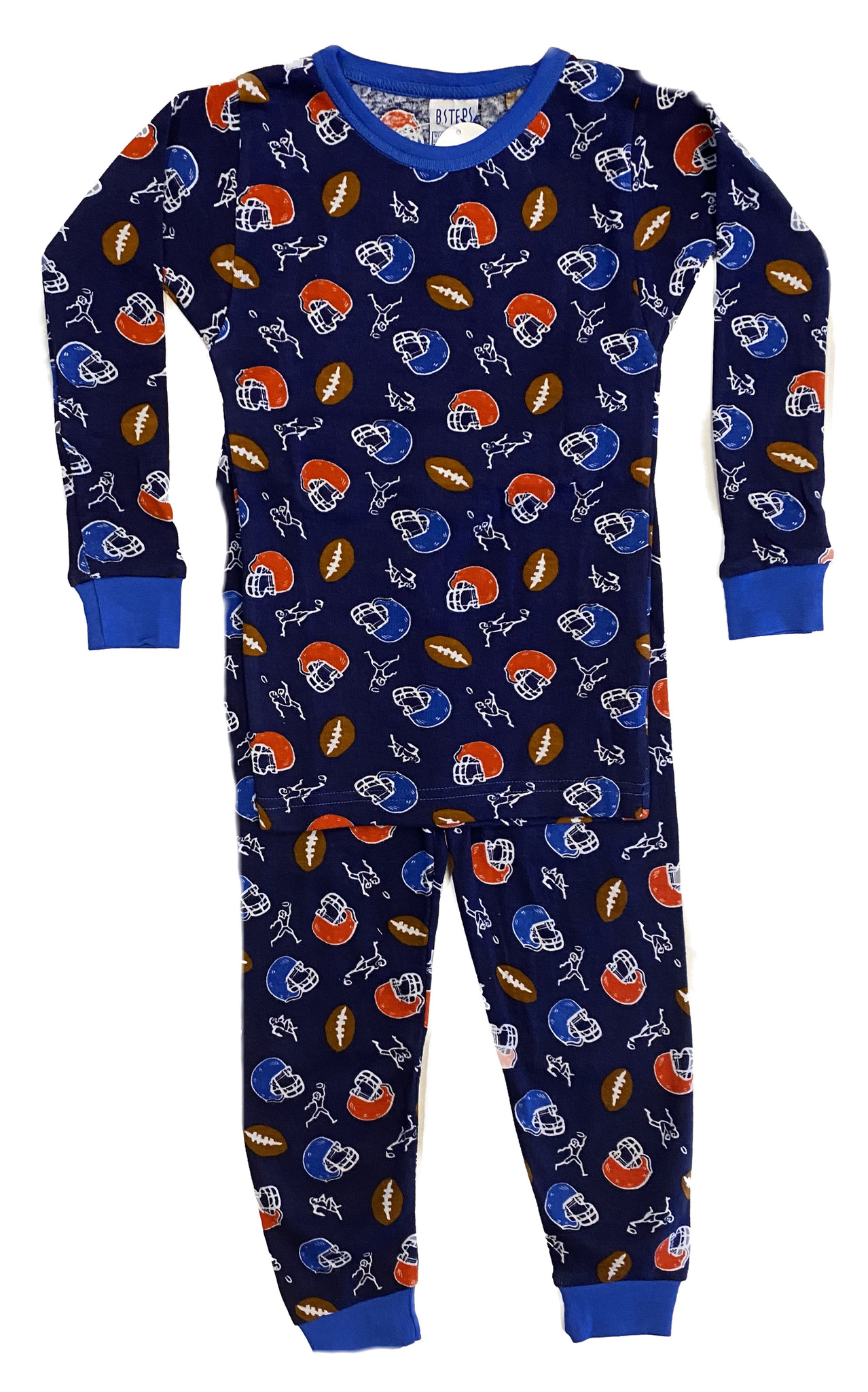 Baby Steps Navy Football PJ Set