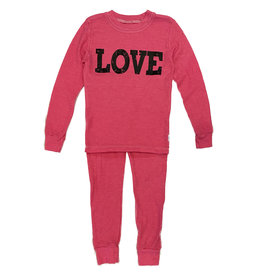 Love Fuschia Thermal PJ Set