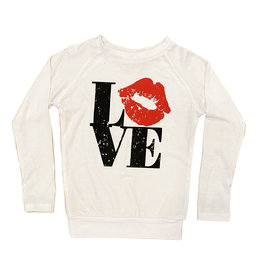 Love with Lips Raglan LS Tee