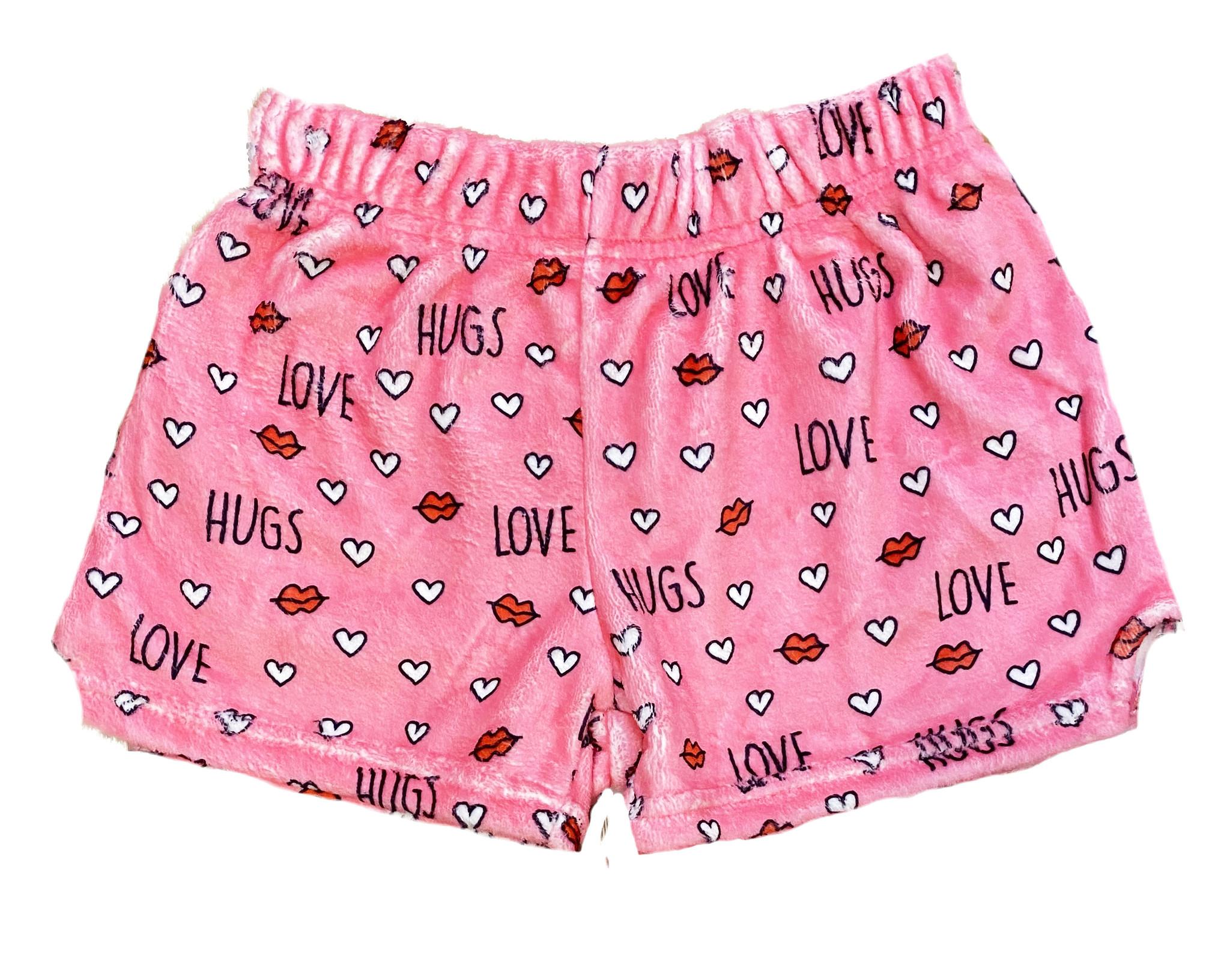 IScream Love and Hugs Plush Shorts