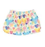 IScream Multi Hearts Plush Shorts