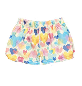 IScream Multi Hearts Plush Shorts