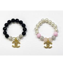 CC Charm Bead Bracelet
