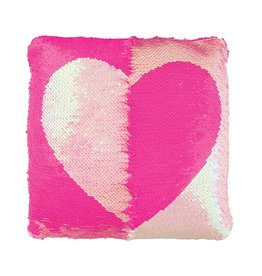 Magic Reverse Sequin Heart Pillow