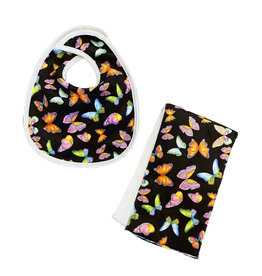 Butterflies Infant Bib or Burp Cloth