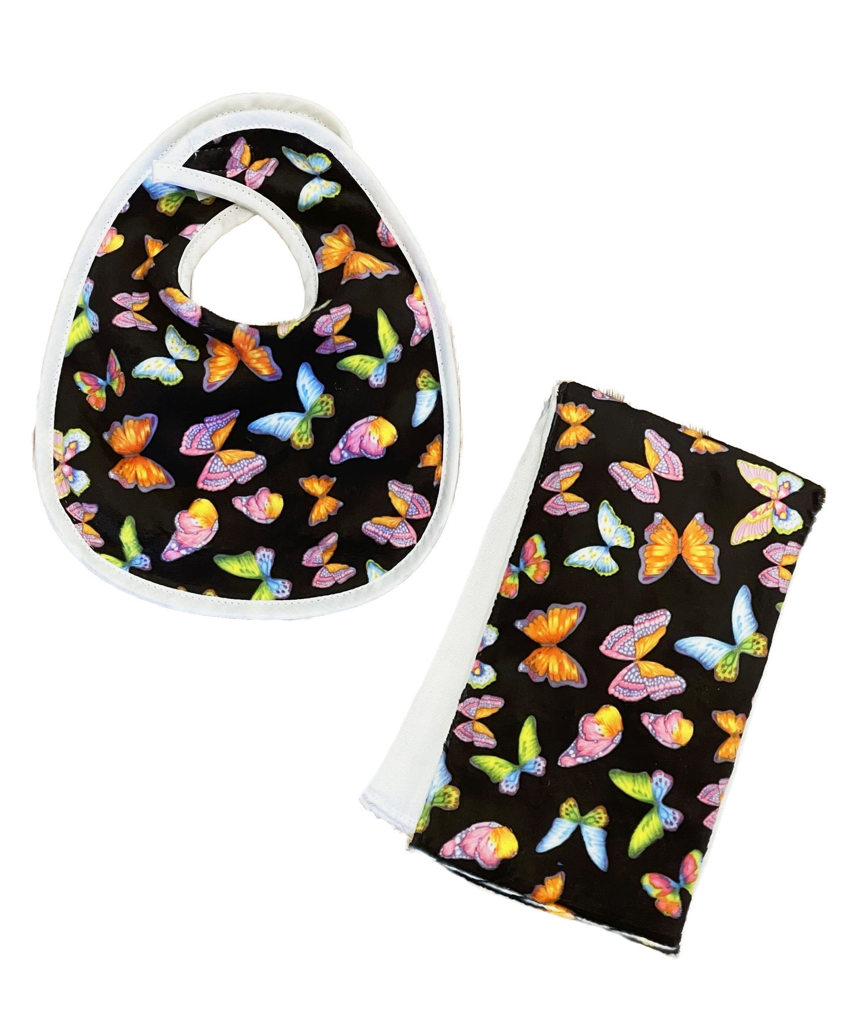 Butterflies Infant Bib or Burp Cloth