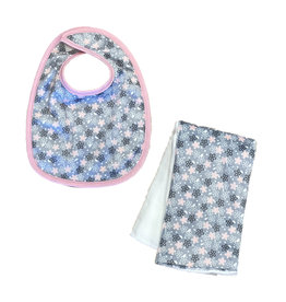 Sweet Flowers Infant Bib or Burp Cloth