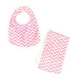 Pink Chevron Infant Bib or Burp Cloth Burp Cloth