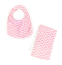 Pink Chevron Infant Bib or Burp Cloth Burp Cloth