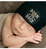 Ily Bean Black Born to Rock Newborn Hat