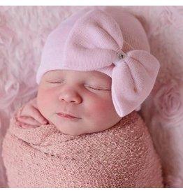 Ily Bean Pink Large Bow Newborn Hat