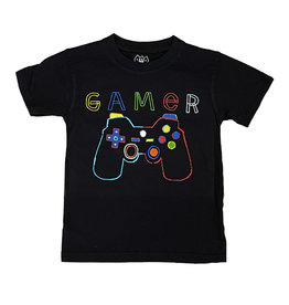 Wes & Willy Black Gamer SS Tee