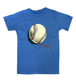 Wes & Willy Blue Game Baseball Infant SS Tee