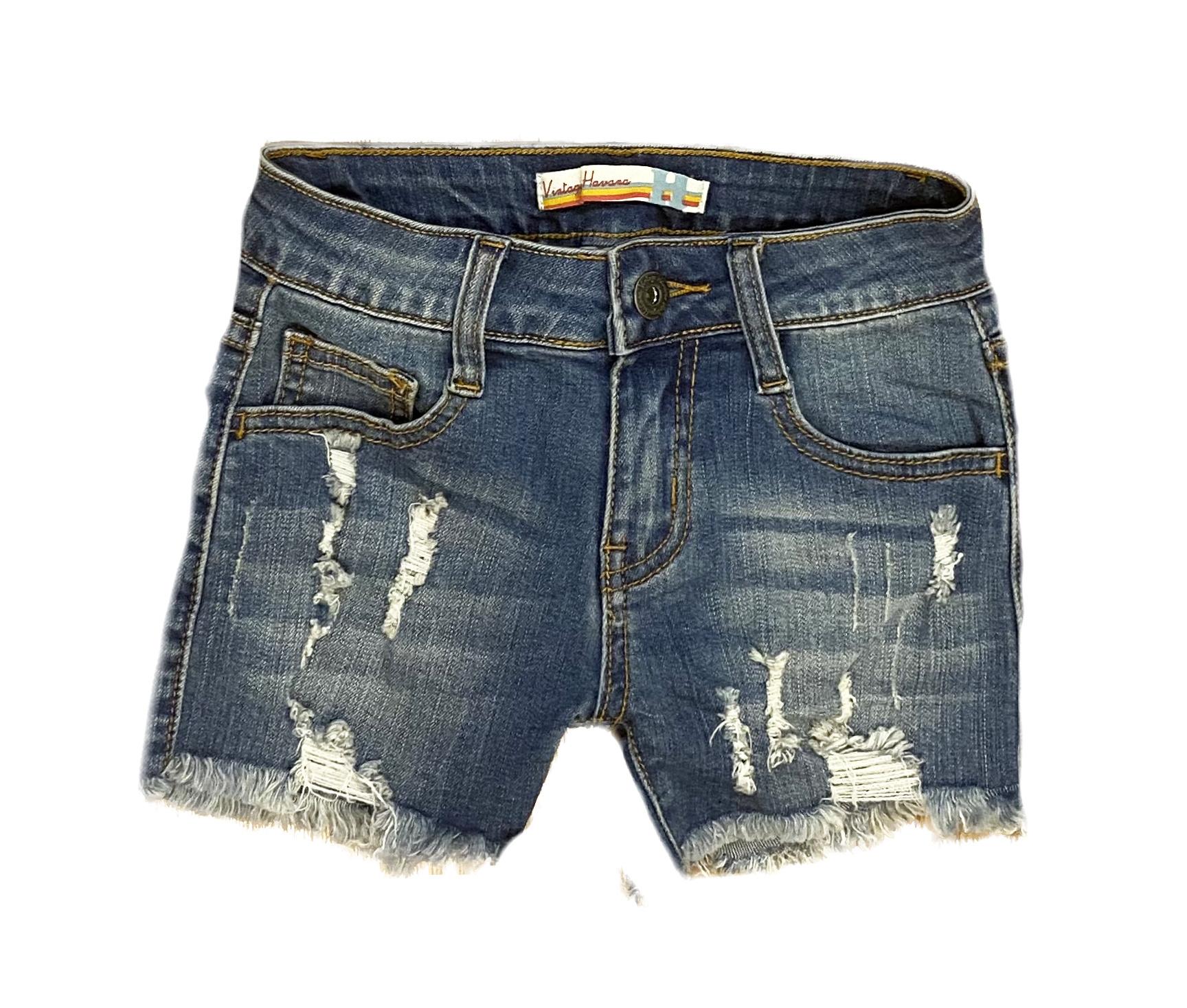 Vintage Havana Distressed Denim Shorts