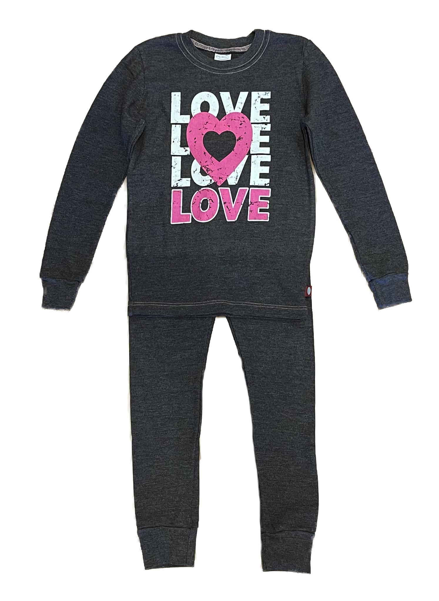 Love Love Charcoal Thermal PJ Set