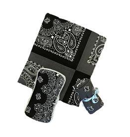 Amy's Accessories Black/Grey Blanket Set