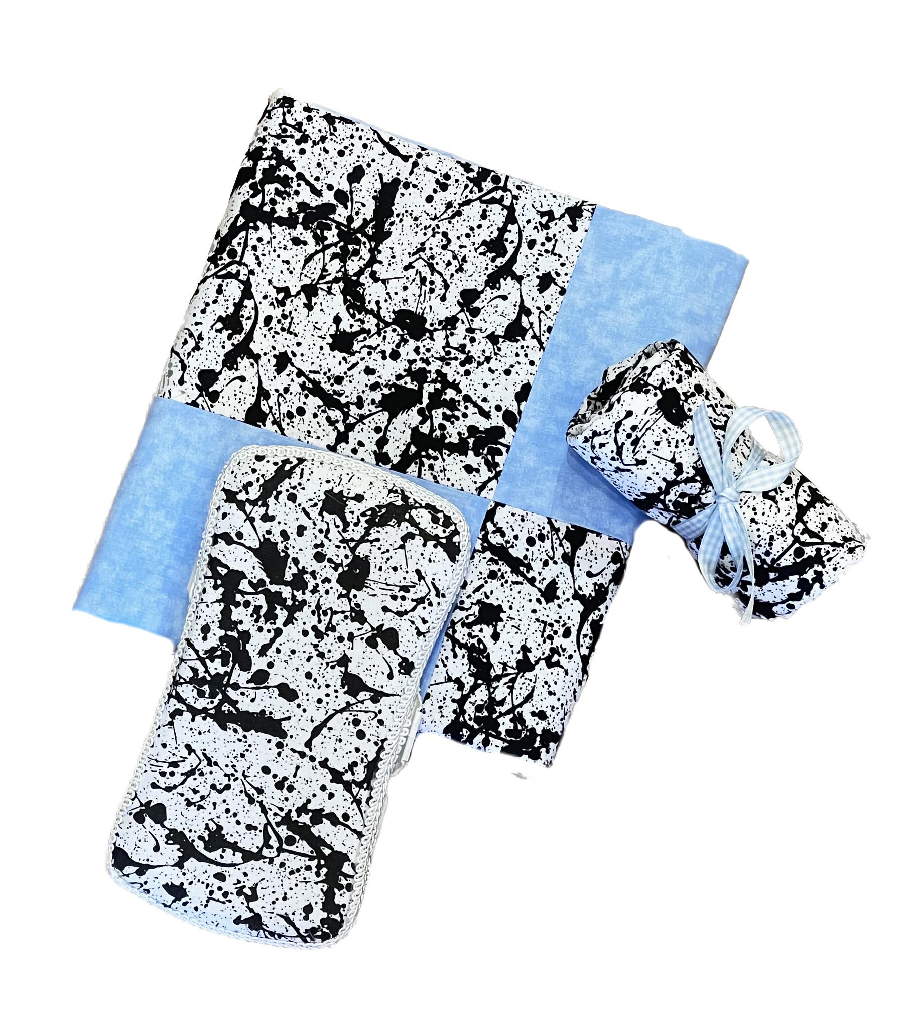 Amy's Blue Splatter Blanket