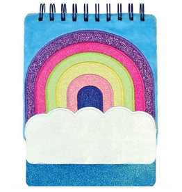 Rainbow  Furry Sequin Journal