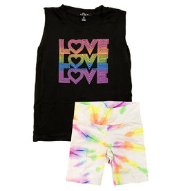 Flowers by Zoe Neon Love Toddler Short Set